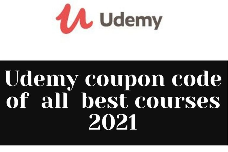 Udemy coupon code of all best courses 2021